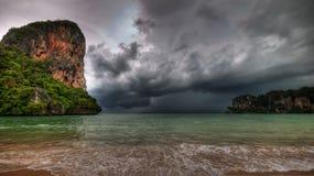 шторм залива railay Стоковое фото RF