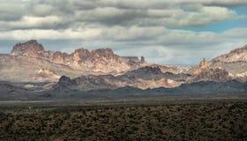 Шторм зимы в черных горах стоковое изображение rf