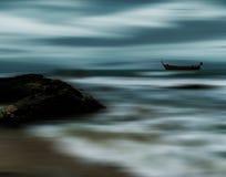Шторм моря и пляжа, движение нерезкости Стоковое фото RF