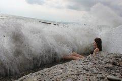 шторм моря Стоковые Изображения