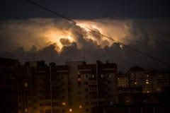 Шторм молнии искусство зоны спальни ZVEREVA Стоковое Изображение