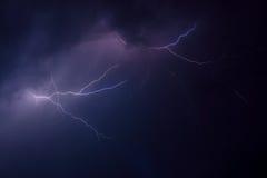 Шторм молнии Стоковая Фотография