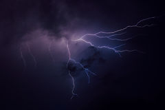 Шторм молнии Стоковое Фото