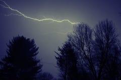 Шторм молнии стоковое изображение rf