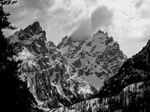 Шторм над рядом Teton стоковые фотографии rf