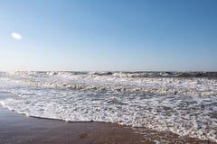 Шторм на море Азова стоковое изображение rf