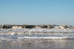 Шторм на море Азова стоковые фотографии rf