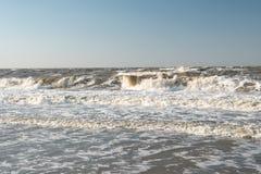 Шторм на море Азова стоковое фото