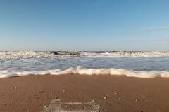 Шторм на море Азова стоковая фотография