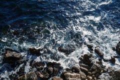 Шторм на море, взгляд сверху Стоковое Изображение