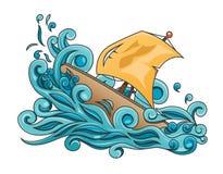 Шторм на море иллюстрация вектора
