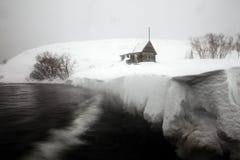 Шторм на озере стоковая фотография