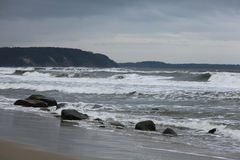 Шторм на побережье океана Стоковое Фото