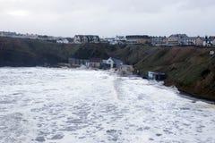 Шторм на пляже взморья Ballybunion Стоковые Фото
