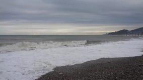 Шторм на Чёрном море сток-видео