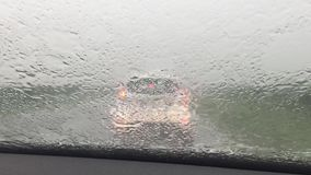 Шторм дождя видеоматериал