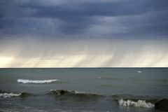 Шторм озера Стоковые Фото