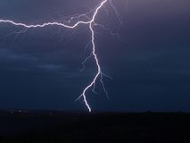 Шторм освещения Стоковое фото RF