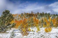 Шторм осени скалистой горы Стоковое фото RF
