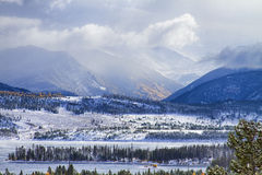 Шторм осени утесистой горы Колорадо Стоковое Изображение RF
