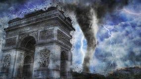 Шторм Парижа Стоковые Изображения RF