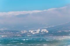 шторм подходы к плохой погоды на городе Стоковое Изображение