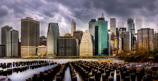 Шторм приходя к Бруклину стоковое фото rf