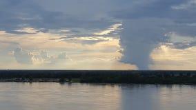 Шторм реки Миссисипи Стоковое Фото