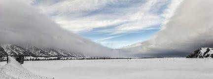 Шторм снега со всех сторон Стоковые Фотографии RF