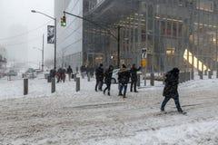 Шторм снега циклона бомбы Стоковое Изображение