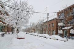 Шторм снежка в Монреали Стоковое Изображение RF