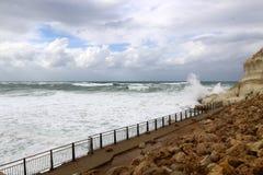 шторм Средиземного моря Стоковая Фотография RF