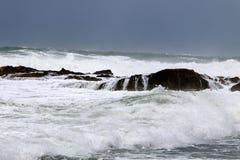 шторм Средиземного моря Стоковое фото RF