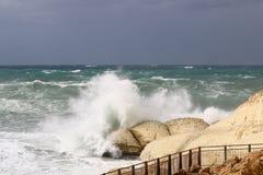 шторм Средиземного моря Стоковая Фотография