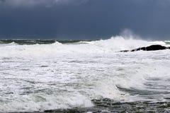 шторм Средиземного моря Стоковые Фото