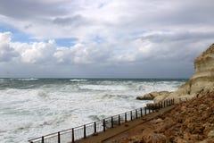 шторм Средиземного моря Стоковые Изображения