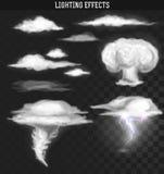 Шторм торнадо Облака погоды Влияние облака реалистическое иллюстрация штока