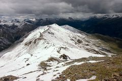 шторм alps приходя Стоковые Изображения