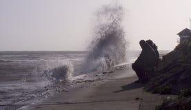 Шторм Ophelia утихомиривает вниз и ударяет материк Великобританию стоковое изображение rf