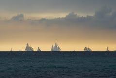 шторм regattas вниз Стоковые Фото