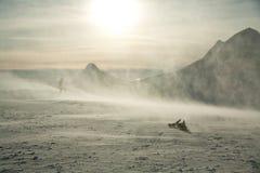 шторм snowboarder Стоковое Фото