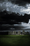 шторм stonehenge стоковое изображение rf