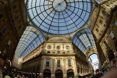 Штольн Vittorio Emanuele II Милан, Италия Стоковые Фотографии RF