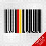 Штрихкод сделанный в изолированной Германии - иллюстрации вектора - на прозрачной предпосылке Стоковая Фотография