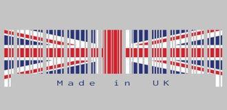 Штрихкод установил цвет флага, Юниона Джек и текста Великобритании: Сделанный в Великобритании Бесплатная Иллюстрация
