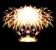 штриховатости ночного неба феиэрверка торжества стоковое фото rf