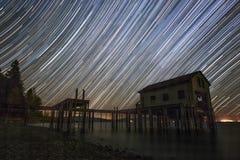 Штриховатость звезд за эллингом Стоковое Фото