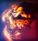 Штриховатость супергероя Стоковое Фото