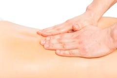 Штриховать массаж, руки masseur стоковая фотография rf