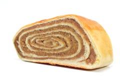 Штрудель грецких орехов изолированная на белизне Стоковое Изображение